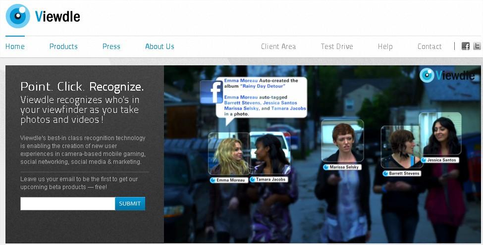 viewdle Viewdle   Afficher les actualités Facebook de vos amis en réalité augmentée Android France
