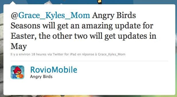angry birds Angry Birds   Une version pour pâques et des niveaux pour mai Android France