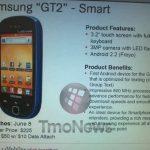 Samsung GT2 – Le téléphone Low Cost