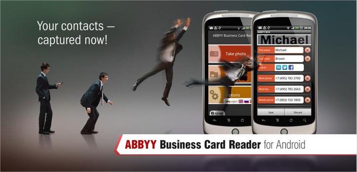 ABBYY Business Card Reader Est Une Application Qui Vous Permet De Sauvegarder Et Grer Toutes Vos Cartes Visite