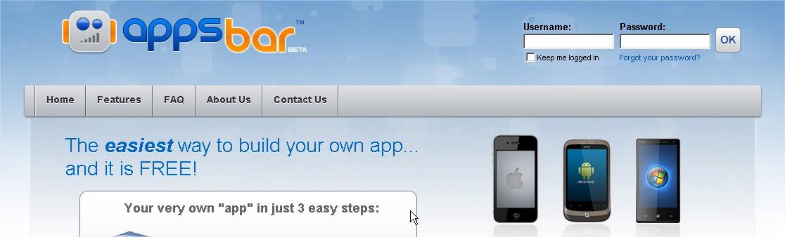 appsbar Créer gratuitement votre application Android avec Appsbar Android France