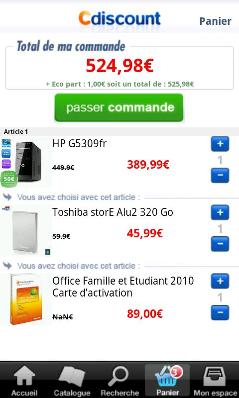 cdiscount android france 03 Cdiscount   Lapplication Android disponible Android France