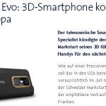 HTC Evo 3D – Pour juillet en Suisse