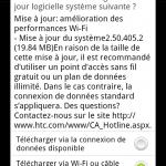 HTC Desire HD – Mise à jour avec une amélioration du Wifi