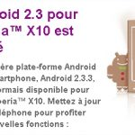 Sony Ericsson Xperia X10 – Android 2.3 disponible