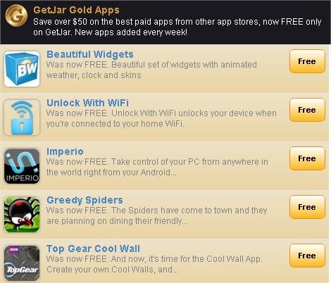 GetJar – Le plein d'applications payantes gratuites (si si)