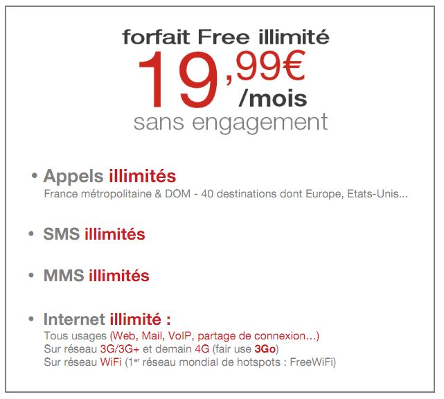 Exclu : Le guide tarifaire Free Mobile