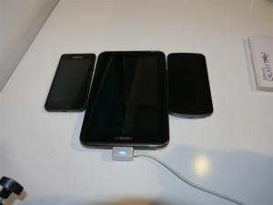 """Samsung Galaxy Tab 2.0 7"""" vs Samsung Galaxy S II vs Galaxy Nexus"""