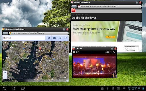 Overskreen un navigateur internet multi fen tr sous for Multi fenetre android
