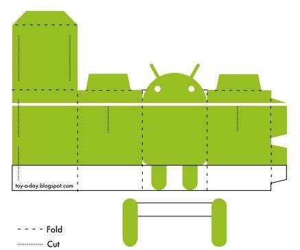 bugdroid Bugdroid   Créez votre figurine papier Android France