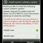 HTC Sensation – Mise à jour vers Ice Cream Sandwich