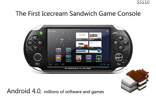jxd JXD S5110   La console portable sous Android 4.0 ICS  Android France