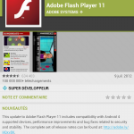 screenshot Google Nexus 7 flash player