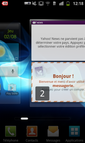 Samsung Galaxy Beam screenshot