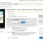 Nexus 4 – Ebay impose ses règles
