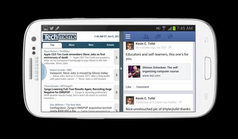 Samsung galaxy s3 encore un lu pour la premium suite for Multi fenetre android