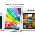 Archos Platinum – Une nouvelle gamme de tablettes allant de 8 a 11.6 pouces