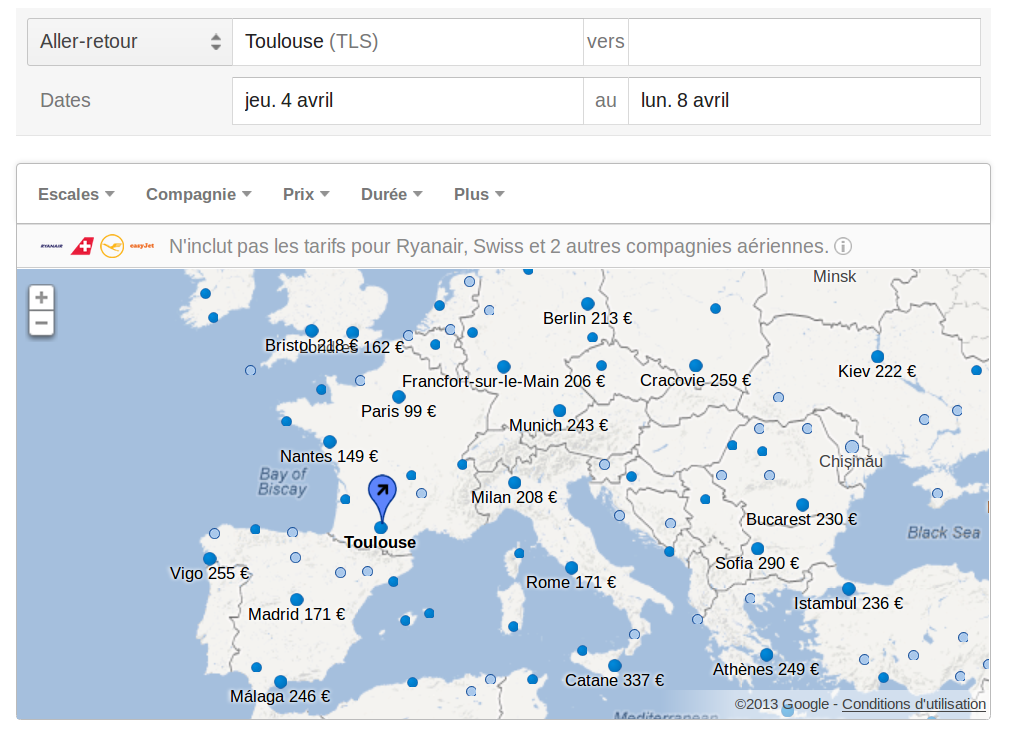 google flights le comparateur de vols d barque en france. Black Bedroom Furniture Sets. Home Design Ideas
