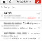 Gmail mobile – L'interface revisitée