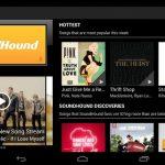 Soundhound – Nouvelle interface pour les tablettes