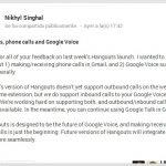 Hangouts – Intégration de Voice en approche