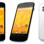 Nexus 4 blanc – Disponible dès aujourd'hui en Asie