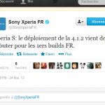Sony Xperia S – La mise à jour 4.1.2 jelly bean est lancée