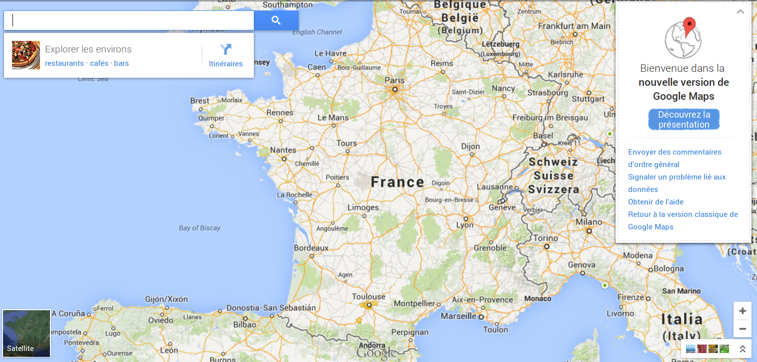 Google Maps - La nouvelle interface web est ouverte - Android-France