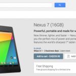 La nouvelle Nexus 7 est disponible sur Google Play au Canada