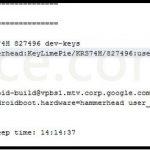 Android KitKat – Des logs du Nexus 5 en fuite