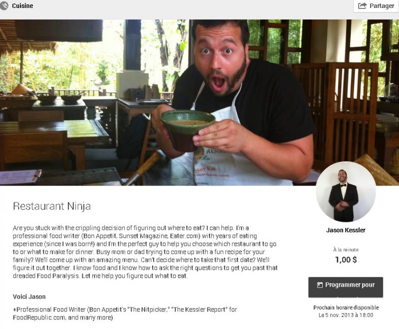 Helpout  Restaurant Ninja  animé par Jason Kessler