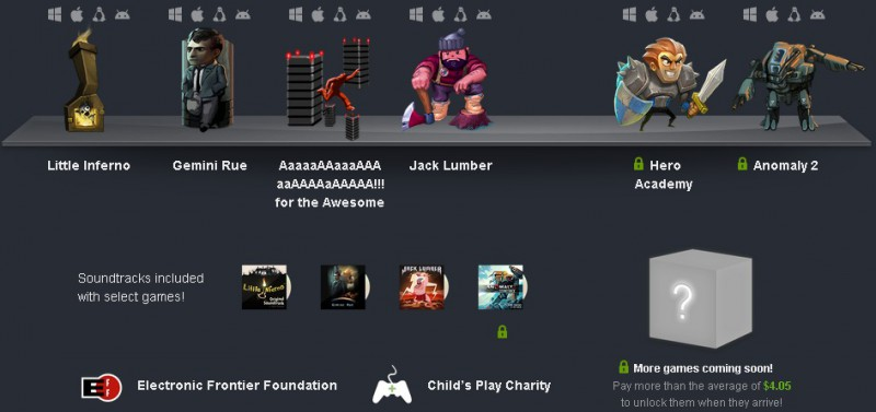 Humble Bundle  PC and Android 8  pay what you want and help charity