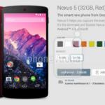 Nexus 5 – De nouvelles couleurs ?