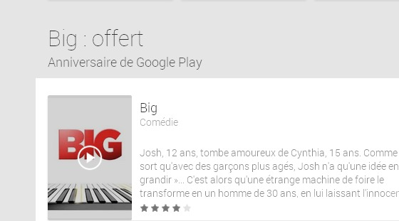 Films sur GooglePlay