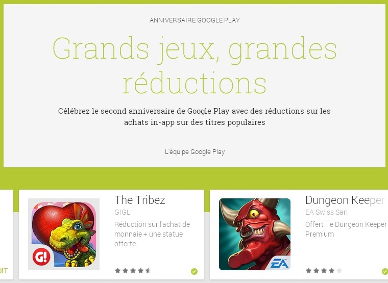 Grands jeux  grandes réductions   Applications Android sur GooglePlay(2)