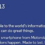 Motorola annoncera un terminal «priced for all» le 13 mai à Londres