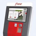 Free Mobile – Une borne d'abonnement et de distribution de carte SIM