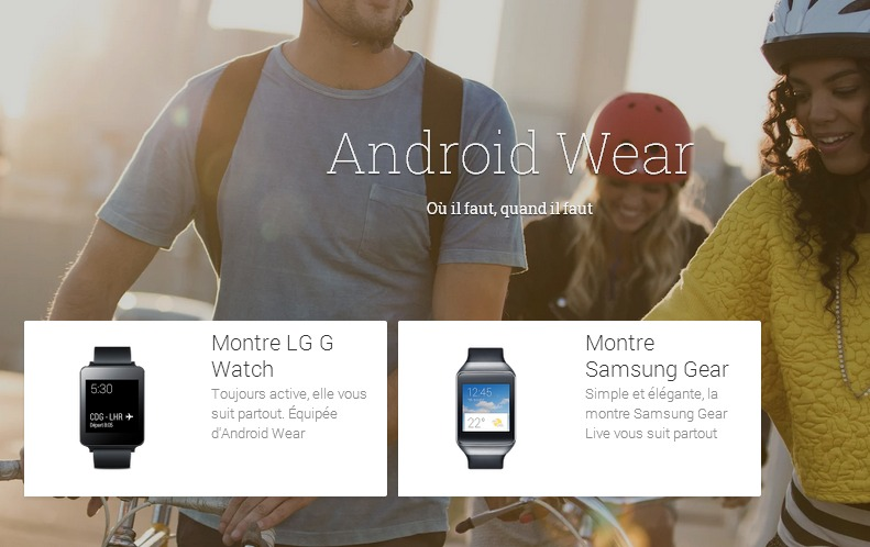 AndroidWear   Appareils compatibles avec GooglePlay