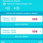 OUIGO – Ravalement de façade de l'application mobile de la SNCF
