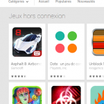 Google Play – Nouvelle catégorie Jeux hors connexion