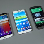 LG G3 vs Samsung Galaxy S5 vs HTC One M8 (vidéo en anglais)