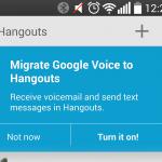 Fusion de Google Voice et Hangout aux USA