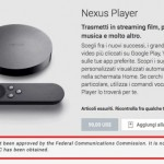 Google Nexus Player passe la certification FCC