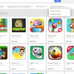 Google Play  nouveau filtre des applications sur le nombre d'étoiles