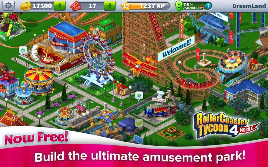 RollerCoaster Tycoon® 4 Mobile   Applications Android sur GooglePlay