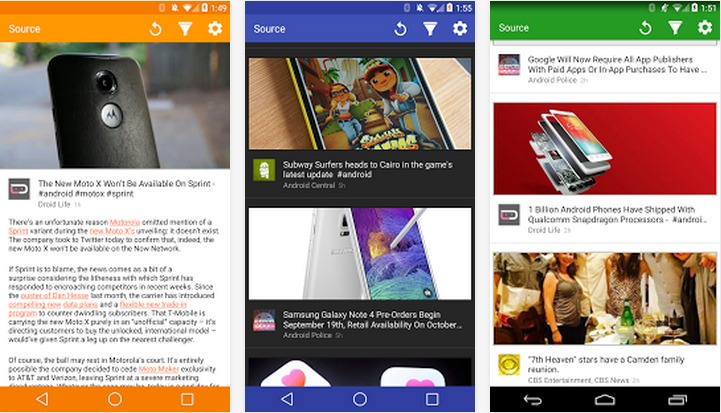 Source   Applications Android sur GooglePlay