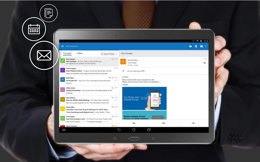Aperçu de Microsoft Outlook   Applications Android sur GooglePlay