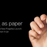 Xiaomi tease son prochain terminal «______ comme du papier»