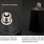 Beam – Un pico-projecteur qui se visse comme une ampoule #kickstarter