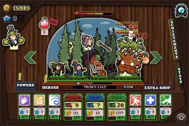 Tap Heroes (iOS & Android) - 01
